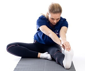 Hamstring stretching: hamstring muscle complex is a common site of muscle cramping