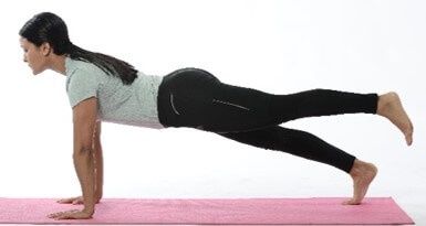 Modified plank with hip extension